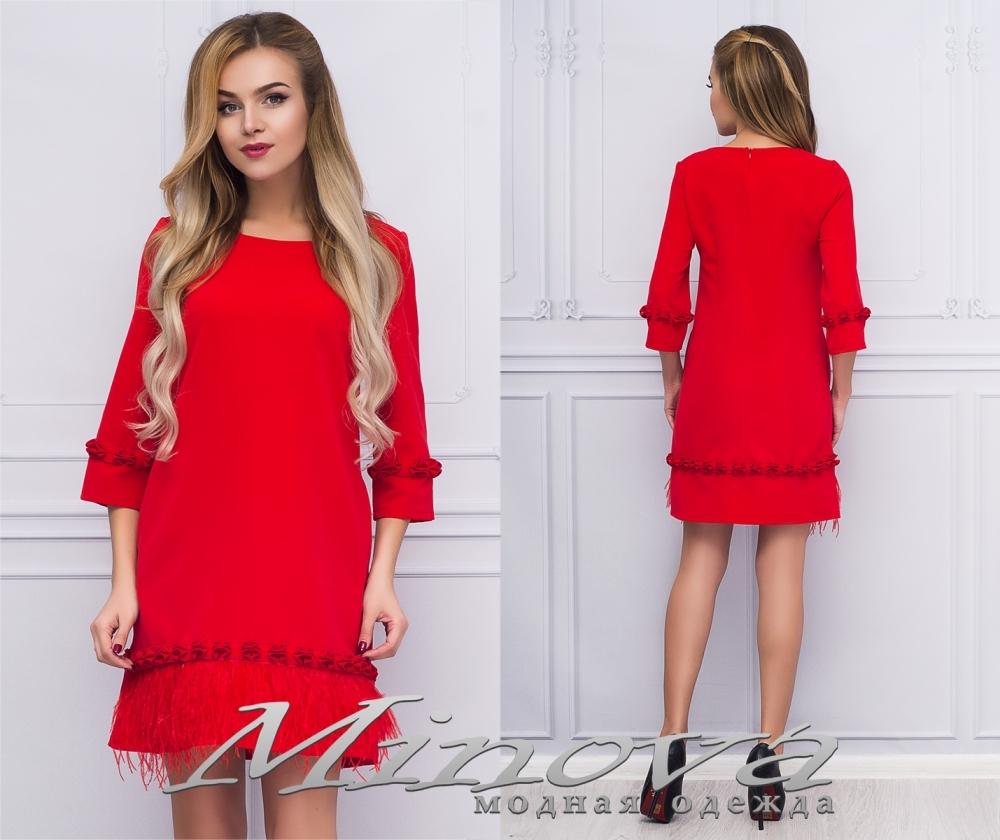 Платье №035н (красный) (sale)
