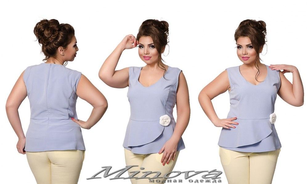 Блуза №0191 (голубой) (sale)