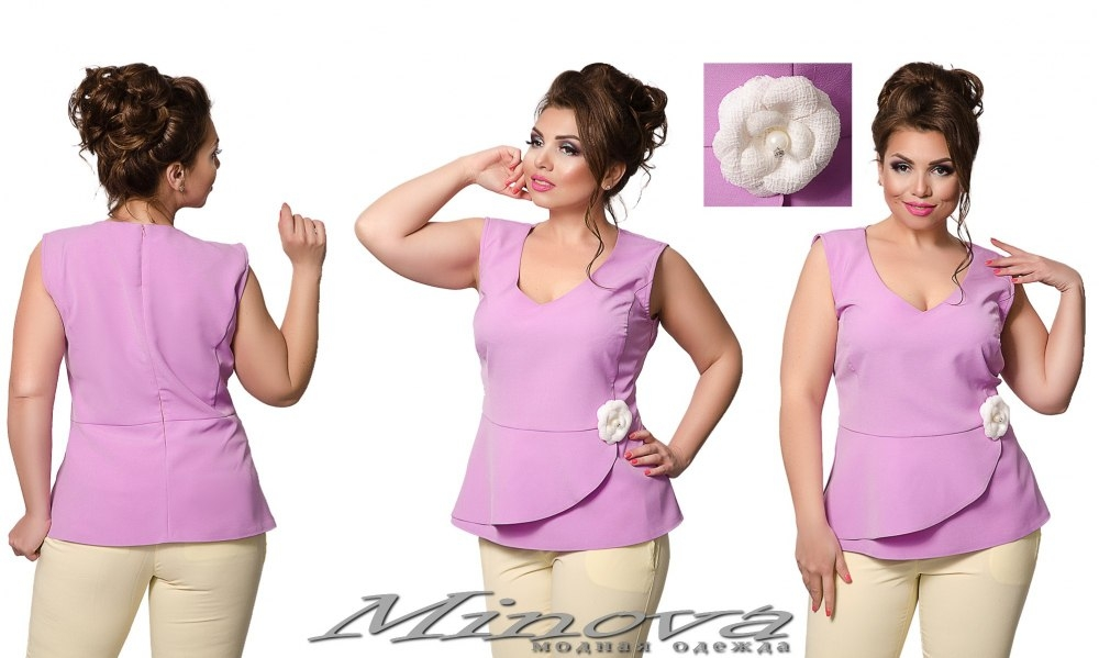 Блуза №0191 (лиловый) (sale)