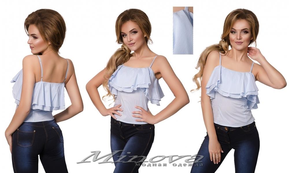 Блуза №1035 (голубой) (sale)