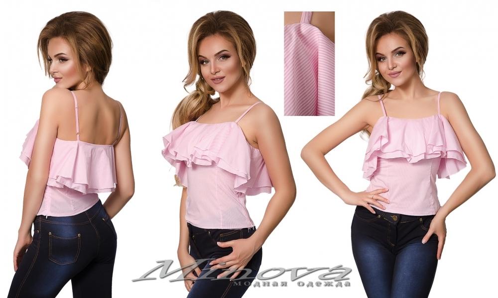 Блуза №1035 (розовый) (sale)