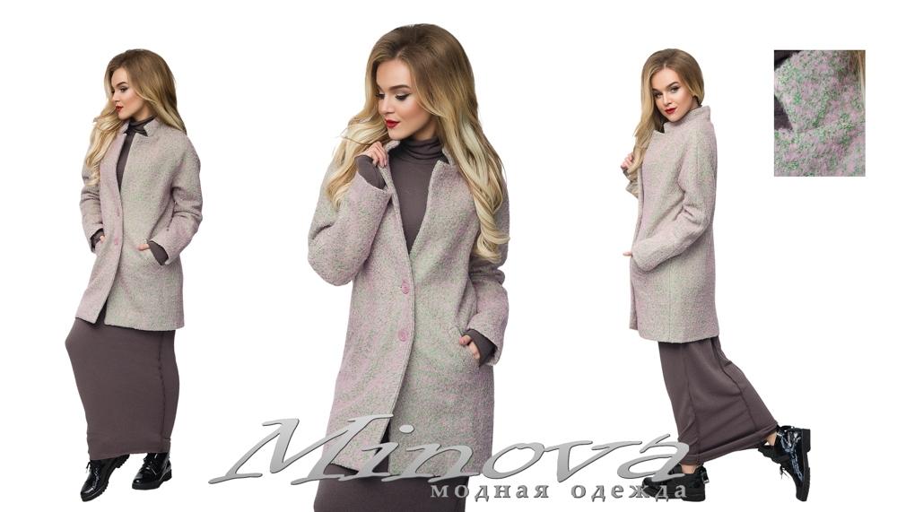 Пальто №8566 (роз-зеленый) (sale)