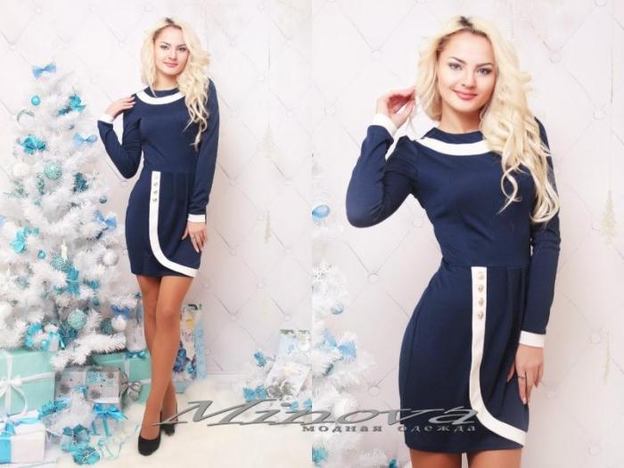 Платье №3039-тем.синий (sale)