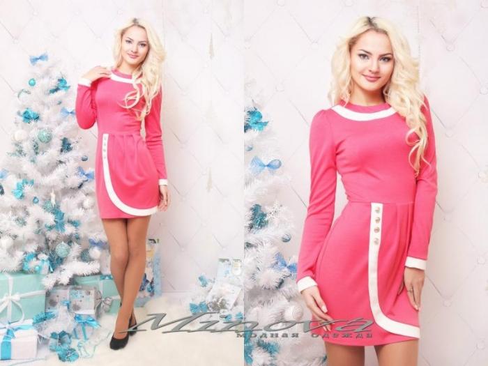 Платье №3039-розовый (sale)