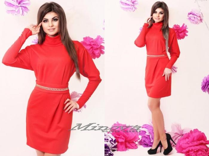 Платье №3047-красный (sale)