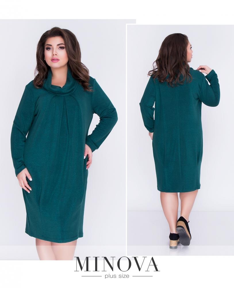 Платье №17-90-темно-зеленый (sale)
