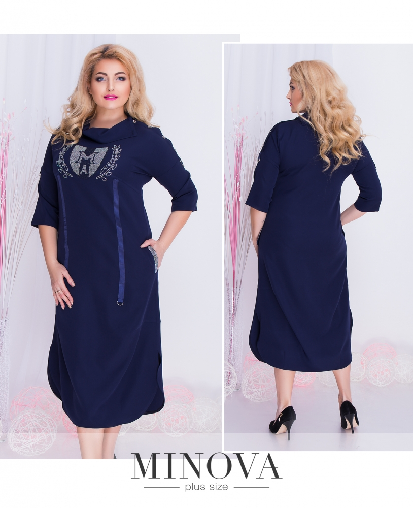 Платье №351б-синий (sale)