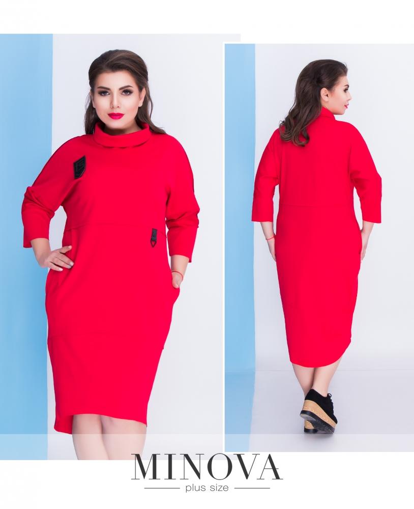 Платье №036-красный (sale)