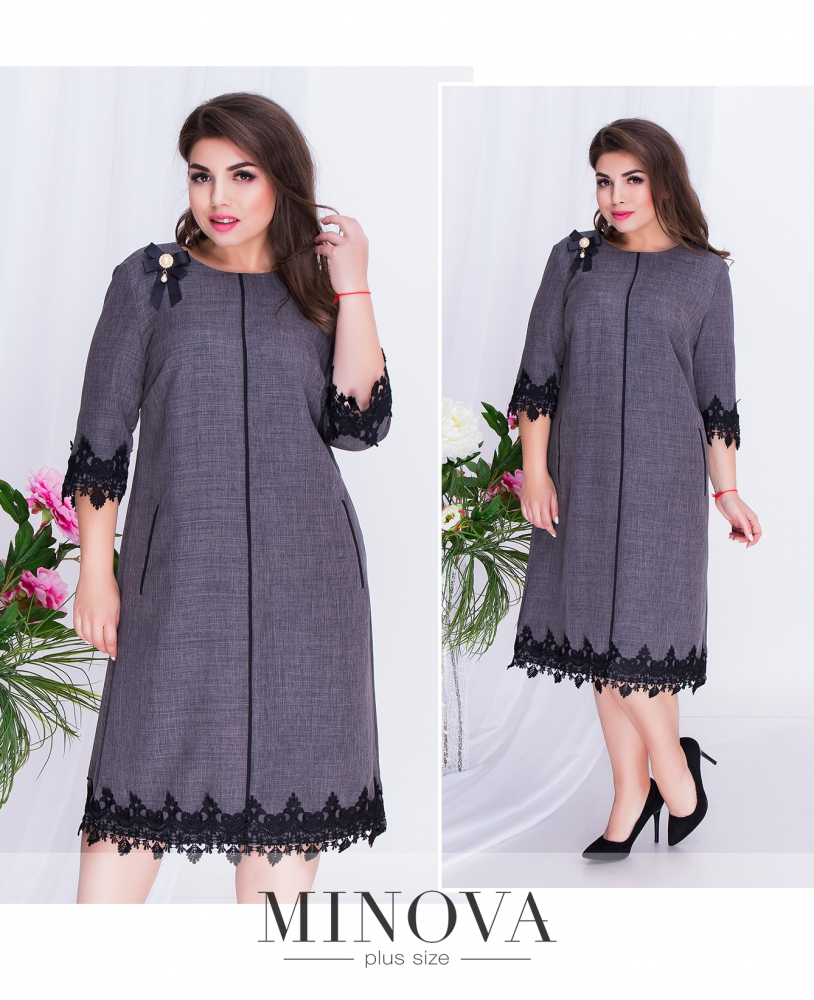 Платье №491-графит (sale)