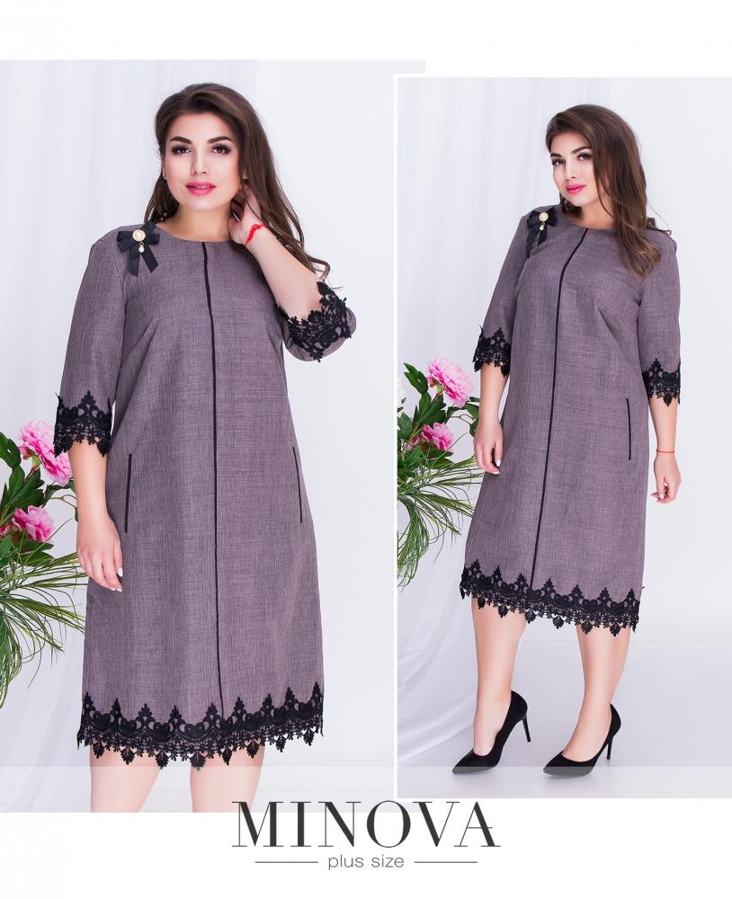 Платье №491-коричневый (sale)