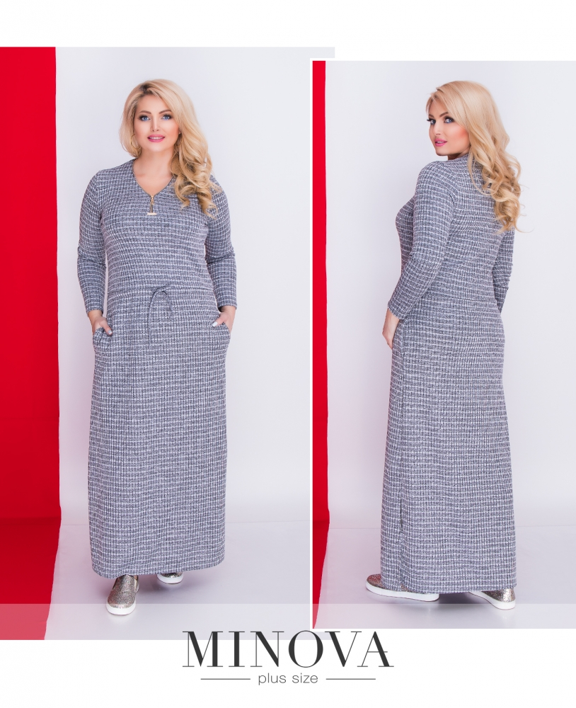 Платье №1333-серый (sale)