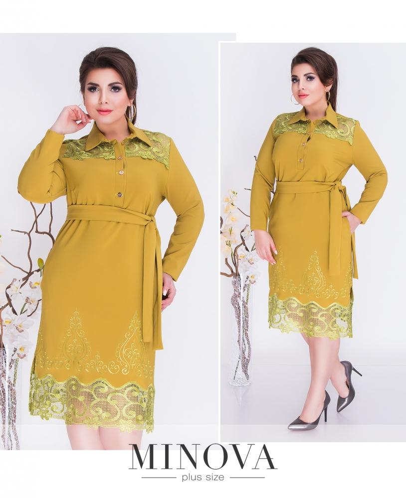 Платье №267-горчица (sale)