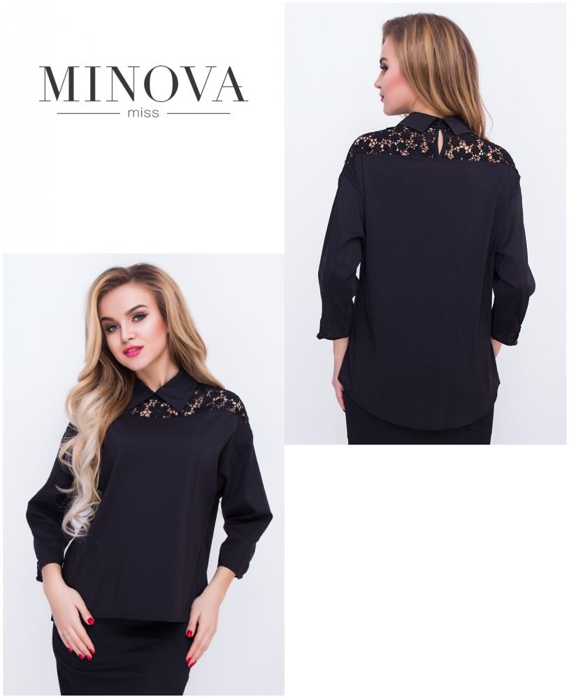 Блуза №4048-черный