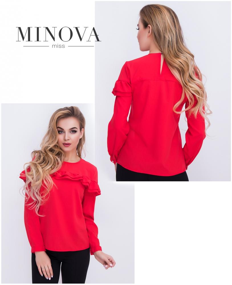 Блуза №402-красный