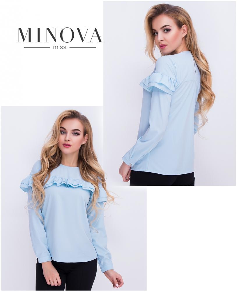 Блуза №402-голубой