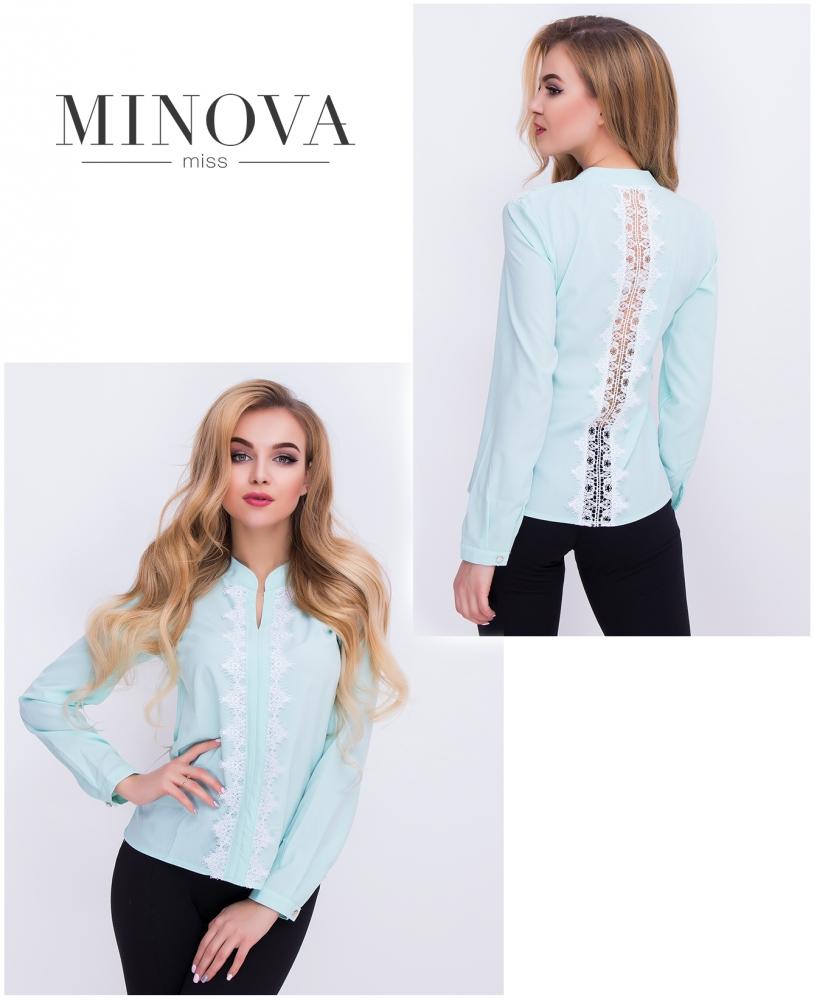 Блуза №403-голубой