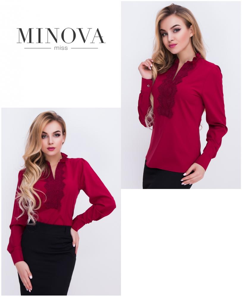Блуза №404-марсала