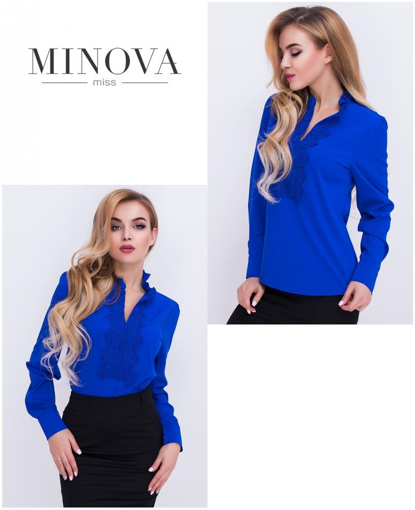 Блуза №404-синий