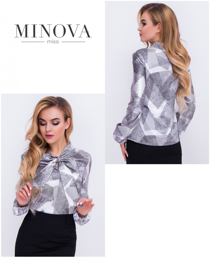 Блуза №м.104-серый