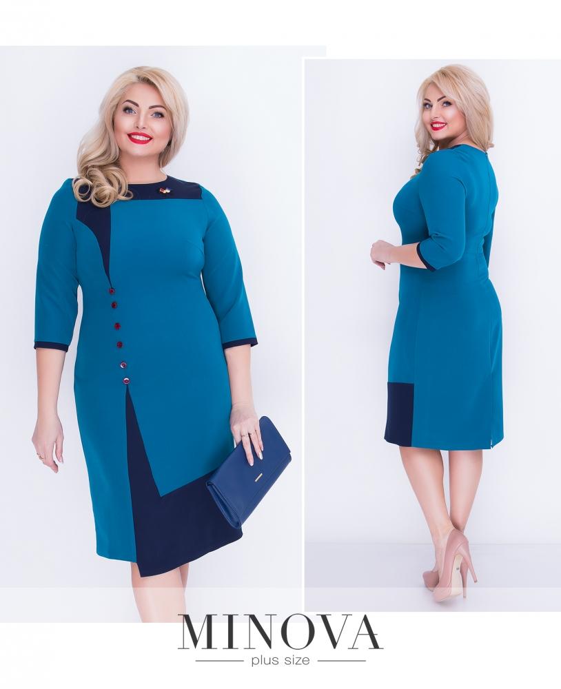 Платье №00036-бирюза (sale)