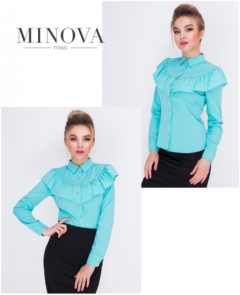 Рубашка №1031-ментоловый (sale)