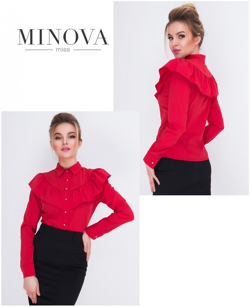 Рубашка №1031-красный