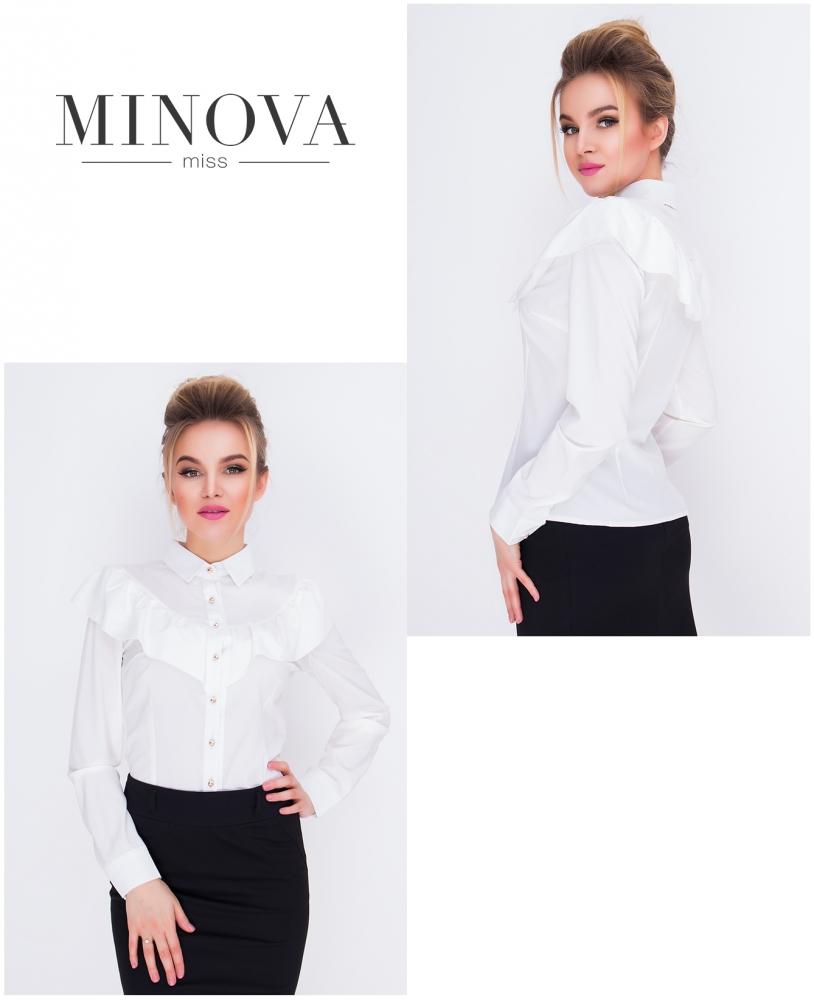 Рубашка №1031-молочный