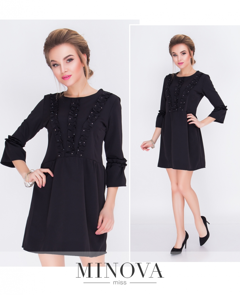Платье №м.109-черный