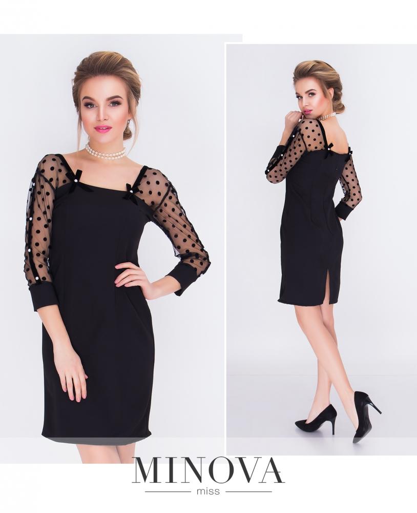 Платье №м.110-черный