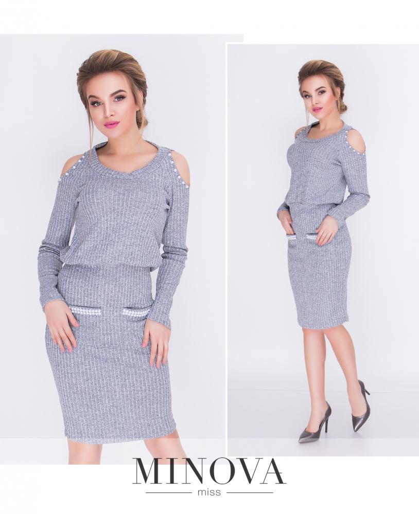 Платье №м.112-серый