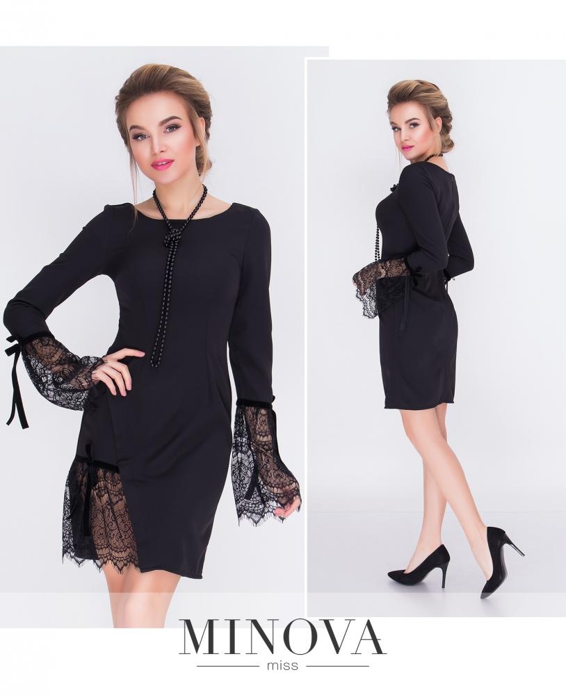 Платье №м.113-черный