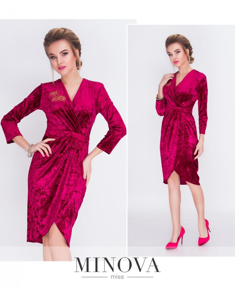 Платье №1517н-марсала