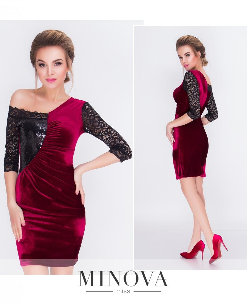 Платье №1618-бордо