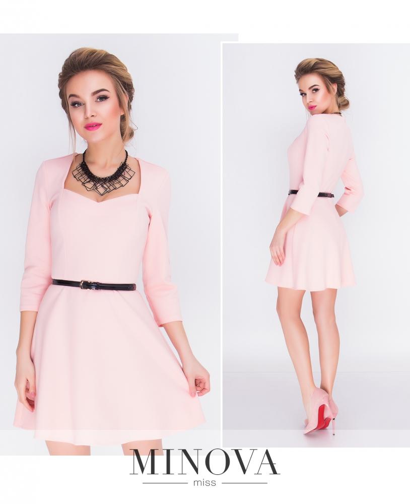 Платье №3091-розовый