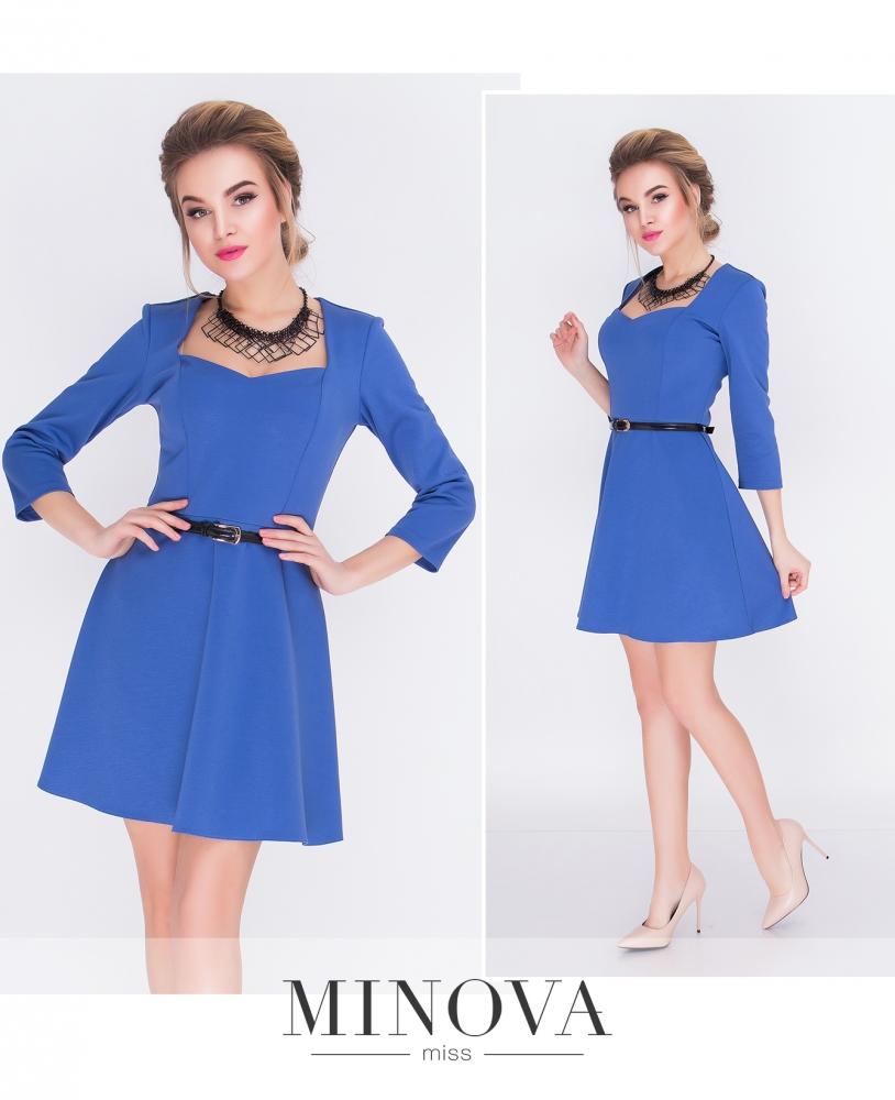 Платье №3091-голубой