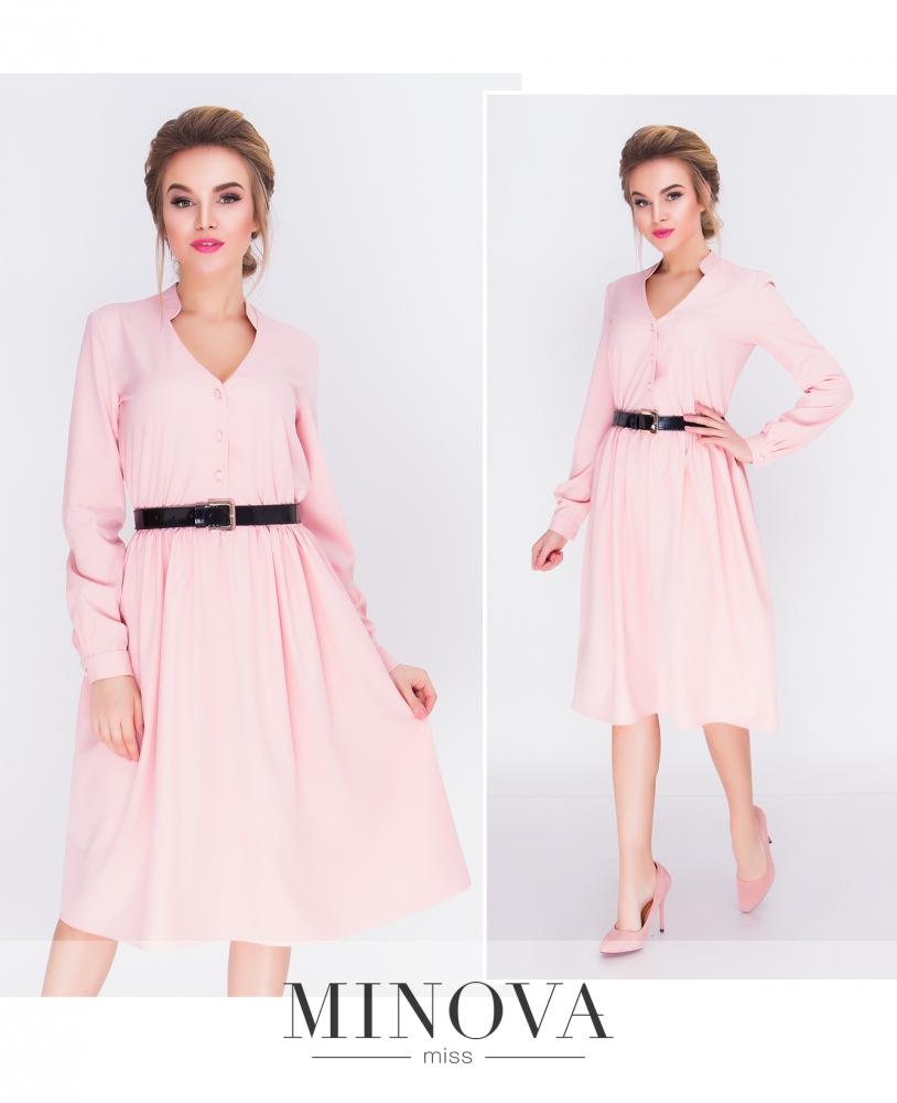 Платье №3092-пудра