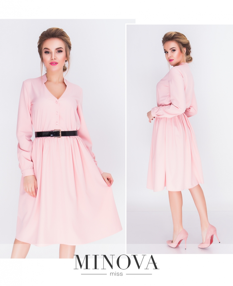 Платье №3092-пудра (sale)