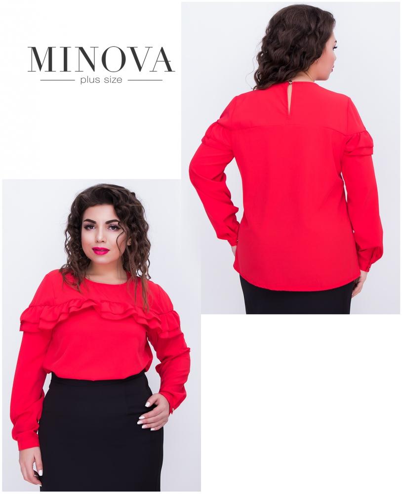 Блуза №405-красный