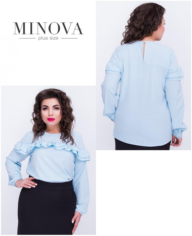 Блуза №405-голубой