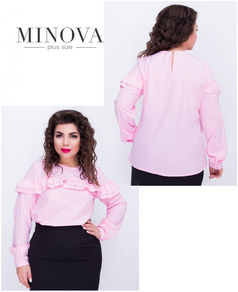 Блуза №405-розовый