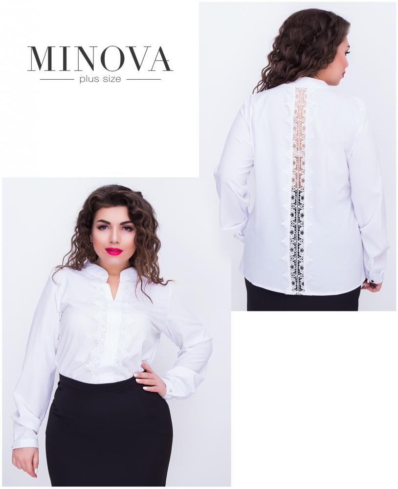 Блуза №407-белый