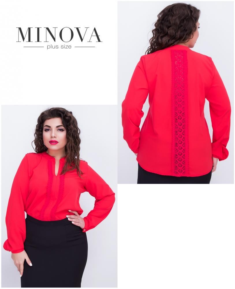 Блуза №407-красный
