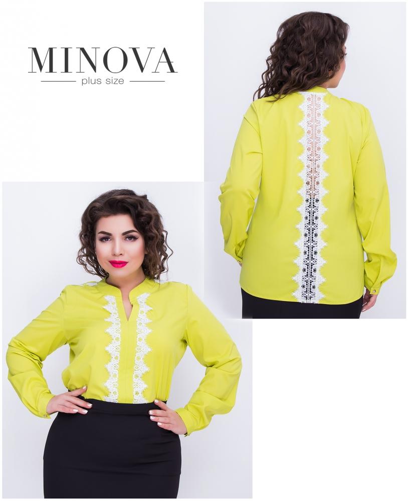 Блуза №407-оливковый