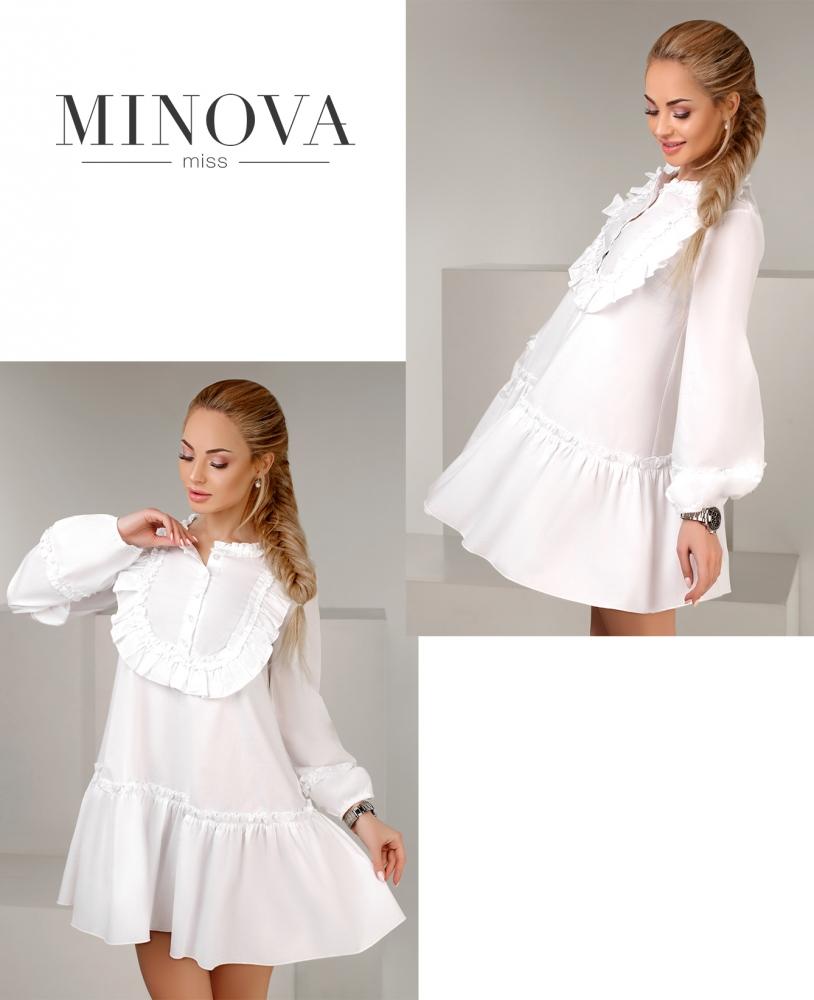 Платье №1107-белый