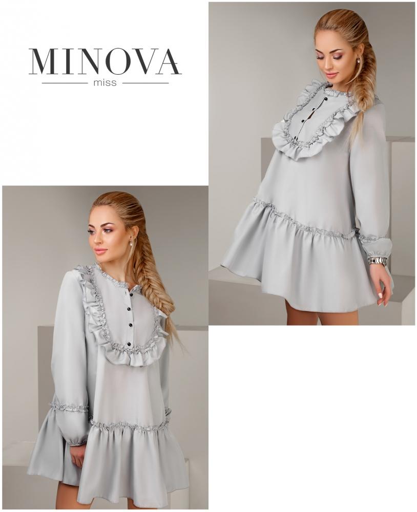 Платье №1107-серый