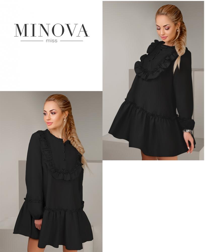 Платье №1107-черный