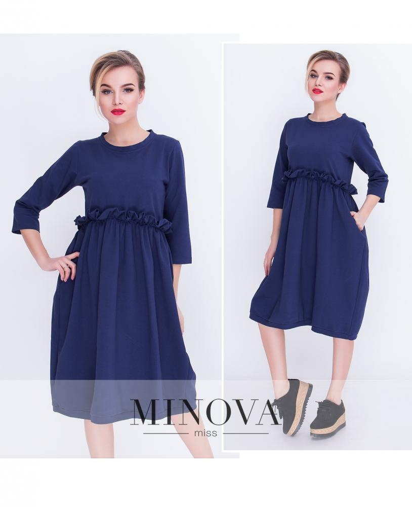 Платье №5066.20-синий