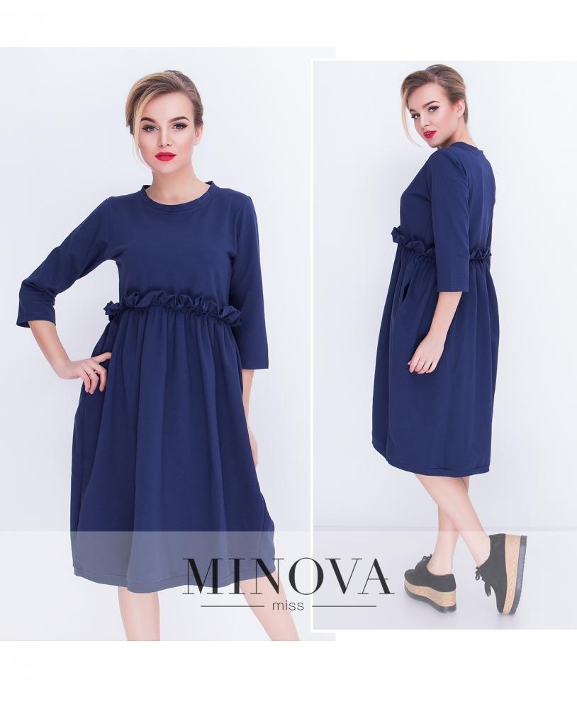 Платье №5066.20-синий (sale)