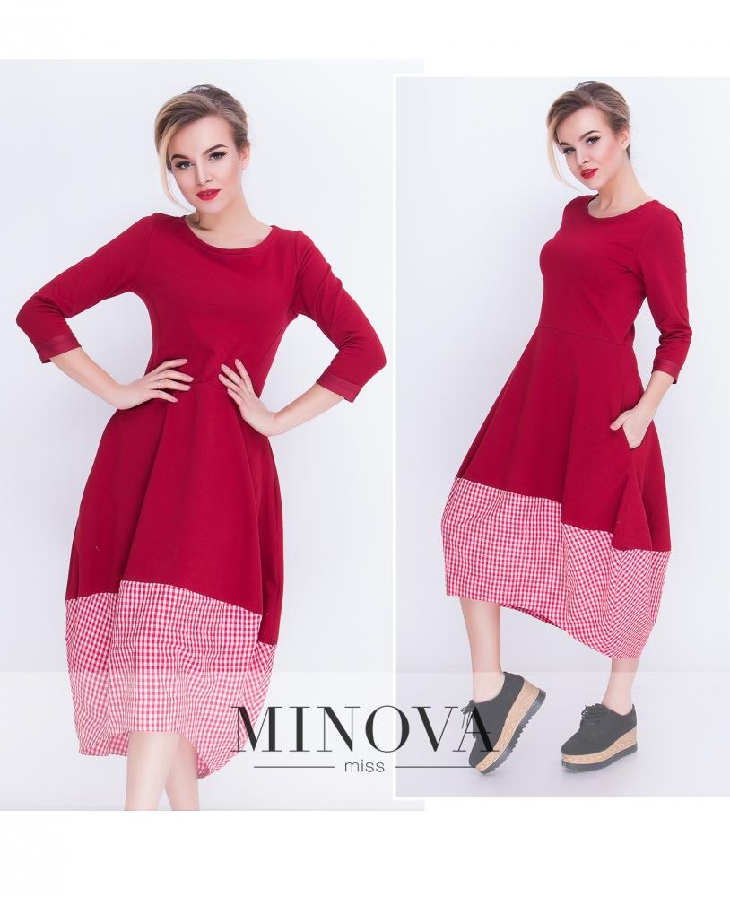 Платье №5015.21-красный