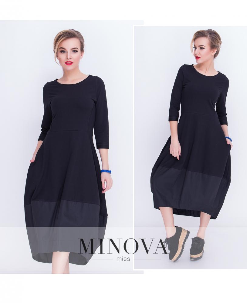 Платье №5015.21-черный